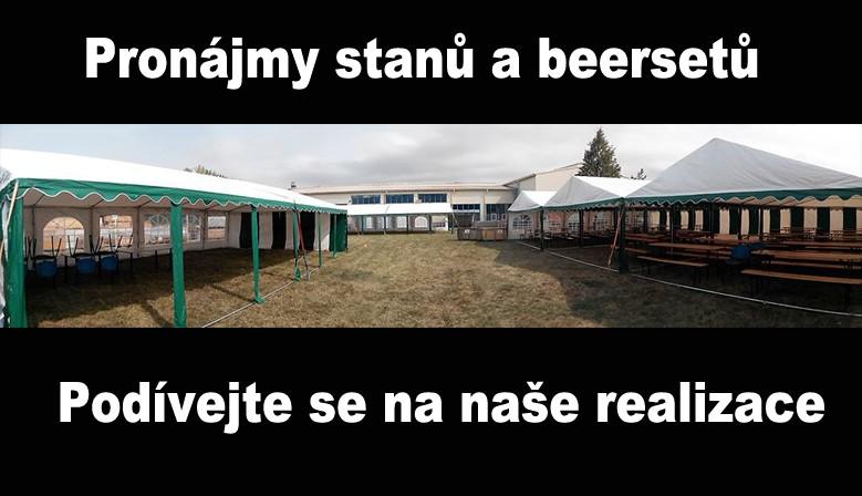 Pronájmy stanů a beersetů